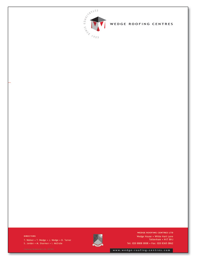 Roofing Company Roofing Company Letterhead